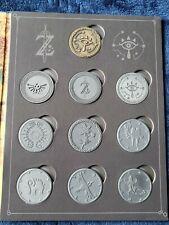 Nintendo Zelda Breath of the Wild Thinkgeek Coin Album COMPLETE Gold Medal Rare