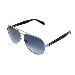 Fossil Unisex Aviator Matte Ruthenium Grey Gradient Sunglasses FOS2061/S R819O