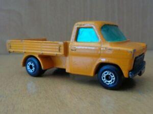 Vintage 1977 Matchbox Superfast Ford Transit No.66 Orange