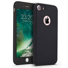 Für iPhone X 10 8 7 6 5 Full Cover TPU Handy Schutz Hülle 360 Grad Bumper Case