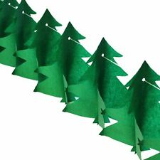 3d Paper Christmas Tree Garland 3 M Length Decoration Xmas Tissue