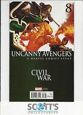 UNCANNY AVENGERS  #8   NM  NEW  (CIVIL WAR VARIANT)  FREEPOST