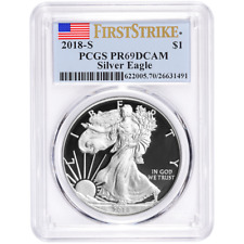 2018-S Proof $1 American Silver Eagle PCGS PR69DCAM First Strike Label