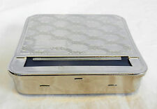 Curve Top Silver Metal Automatic Cigarette Rolling Machine / Tobacco Tin - NEW