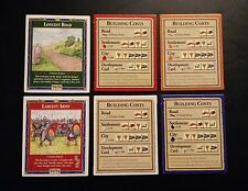 Settlers of Catan Building Cost Cards, Longest Road, Largest Army - 4th edition