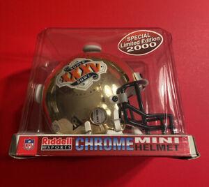 CHROME SUPER BOWL XXXV 35 Mini Football Helmet Vtg NFL Authentic Facemask Ravens