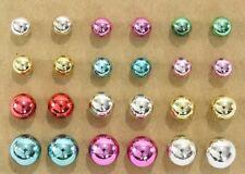 Mardi Gras ball post stud earrings 12 pair colorful plastic fun party favors
