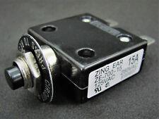 15A 125 / 250V Push-Button Circuit Breaker w/Quick Connect Term - Philmore B7015