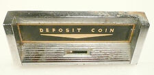 AMI / ROWE JUKEBOX * G-80  part:  CHROME COIN DROP UNIT