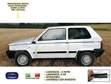 Modanature per Fiat Panda 750  esterne laterali gomma adesivi paraurti colpi da