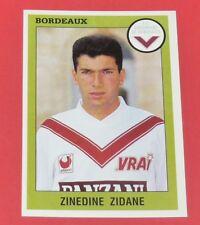 N°34 ZINEDINE ZIDANE GIRONDINS BORDEAUX ZIZOU PANINI FOOTBALL FOOT 94 1993-1994