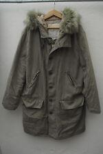 Denim And Supply Ralph Lauren Verde Dell'Esercito Stile Militare Parka con cappuccio 48 sul petto