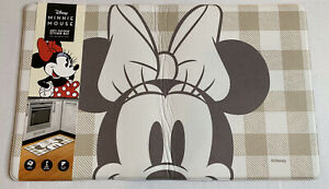 """Disney's Minnie Mouse Face Anti-Fatigue Padded Kitchen Mat Fall  18"""" x 30"""" NWT"""