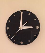 Handmade Petit Horloge Mural Rond en Noir