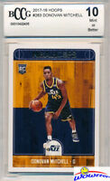 2017/18 Panini Hoops #263 Donovan Mitchell ROOKIE BECKETT 10 MINT Utah Jazz