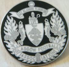 GLASGOW FOOTBALL ASSOCIATION Vintage Badge Maker LONDON BADGE Chrome 34mm x 34mm