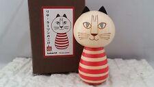 Official Lisa Larson RED CAT Sosaku Kokeshi Japanese Wooden Doll