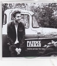 Patrick Lehman-Prove Myself To You Promo cd single