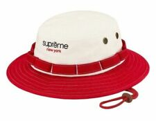 Supreme Contrast Boonie (SS20) Red Mens Size S/M Deadstock New Classic Logo Hat