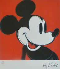 ANDY WARHOL MICKEY MOUSE MICKY SIGNED HAND NUMBERED 905/5000 LITHOGRAPH