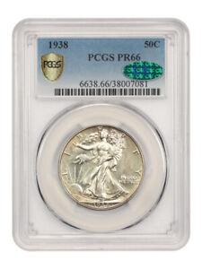 1938 50c PCGS/CAC PR 66 - Walking Liberty Half Dollar