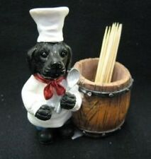 Dog Figure Chef Toothpick 3 types Labradors