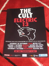 THE CULT - ELECTRIC 13  AUS TOUR 2013 -  COUNTER TOUR POSTER