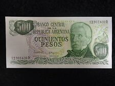 Lot of 36 UNC Sequential Banco Central De La Republic Quinientos Pesos