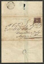 Toscana 1860 - 10 c. bruno Lettera da Fitto di Cecina a Massa Marittima - ASI084