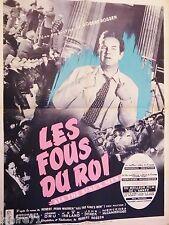 LES FOUS DU ROI  ! affiche cinema 1949