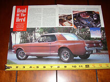 1966 FORD MUSTANG GT HI PO HARDTOP - ORIGINAL 1995 ARTICLE