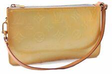 Authentic Louis Vuitton Vernis Lexington Pouch Yellow LV A6214