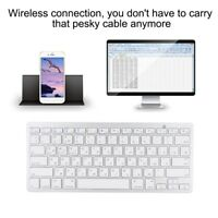 Mini Russian Wireless Bluetooth 3.0 Keyboard For Macbook/Windows/Android Tablet