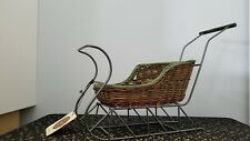 Boyds Bear Christmas Wicker Sleigh Display Piece for Doll Or Bear