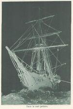 G0746 Régions Polaires - Dans la nuit polaire - Stampa d'epoca - 1926 old print
