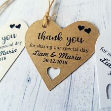 Thank You For Sharing Our Special Day Personalised Wedding Label Heart Tags 189
