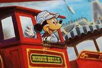 Disneyland Railroad POSTCARD Mickey Mouse Walt Disney MINNIE BELLE Engine #5