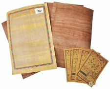 10 Blank Brown Egyptian Papyrus Sheets for Art Projects and Schools 6x8 Inch ...