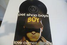 "PET SHOP BOYS MAXI 45T LOVE COMES QUICKLY . 12"" ITALY PRESS. ITALIE."