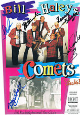 "Bill Haley's Original Comets autograph 8""x12"" program page signed In Person 2004"