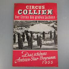 Programm Circus Collien mit Charlie Rivel 1955 (53831)