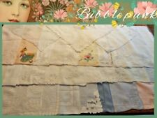 Antique ~ Vintage Lace Embroidered Initial Hankie Handkerchief Lot/35 ~ $1 Nr