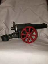 "Vintage ""BIG BANG CANNON"" CALCIUM CARBIDE CAST IRON TOY"