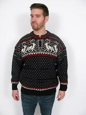 DALE OF NORWAY NORWEGIAN PURE NEW WOOL REINDEER PULLOVER MANS SWEATER~L