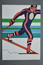 R&L Postcard: 1984 Los Angeles Olympics, Robert Peak, Nordic Skiing