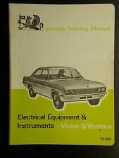 Vauxhall Service Training Manual Victor & Ventora electric equipment 1968