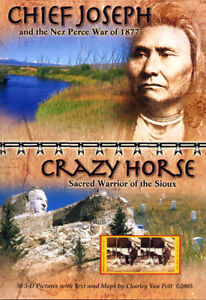 CHIEF JOSEPH and CRAZY HORSE 3-D Book Pictures by Charley Van Pelt