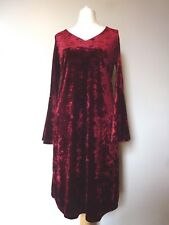 Ronni Nicole V Neck Bell Sleeve Velvet Swing Dress Size 12 Wine