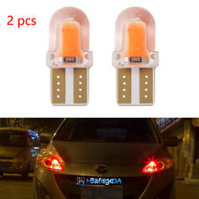 2pc T10 168 194 W5W COB Silica Gel Car LED Bulbs Lamp License Plate Light Red
