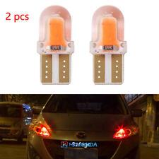 2pc T10 168 194 W5W COB Silica Gel Car LED Bulbs Lamp License Plate Light Red